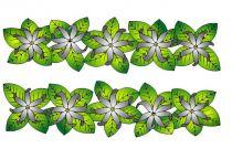 Paréos peint main Tiare Tahiti blanc