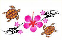 Paréos peint main tortue blanc