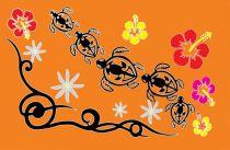 Paréos Tahiti promenade orange