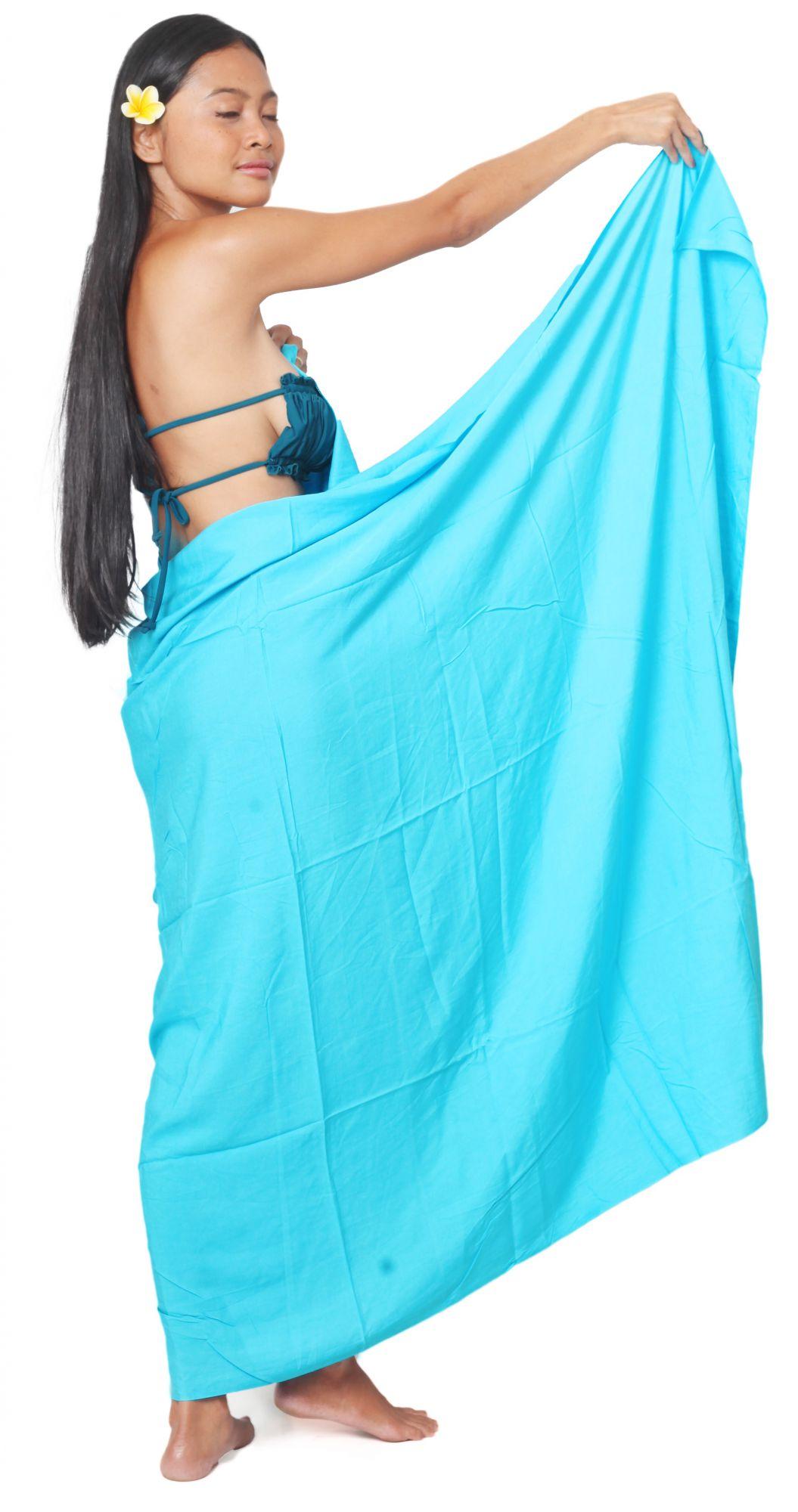 Paréos Unis Bleu Turquoise