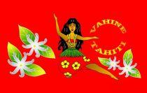 Paréos Vahine Tahiti rouge