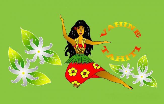 Paréos Vahine Tahiti vert