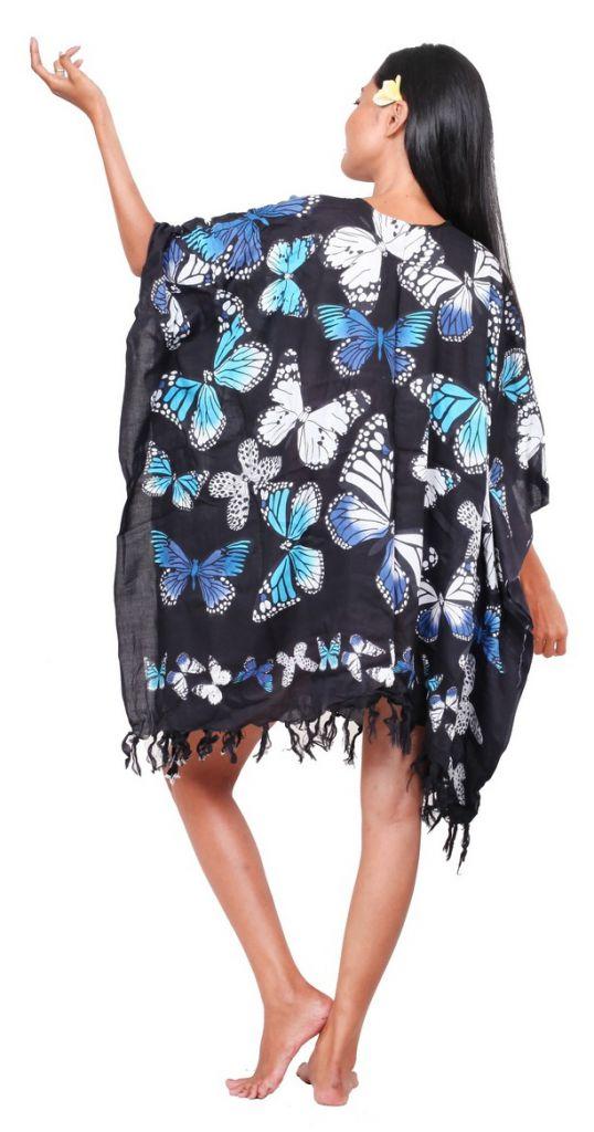 Paréos vol de papillon noir