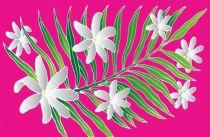Poncho paréos tiaré Tahiti rose