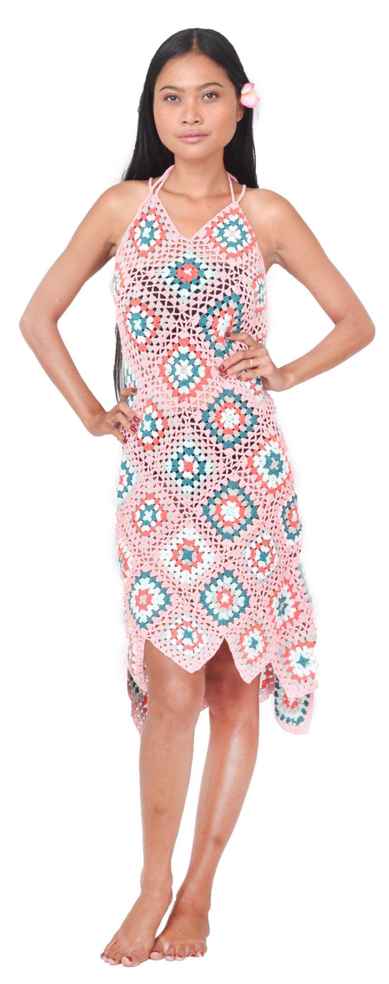 Robe crochet rose S