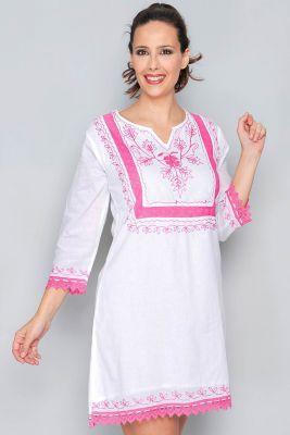 Robe d\'été blanche et rose