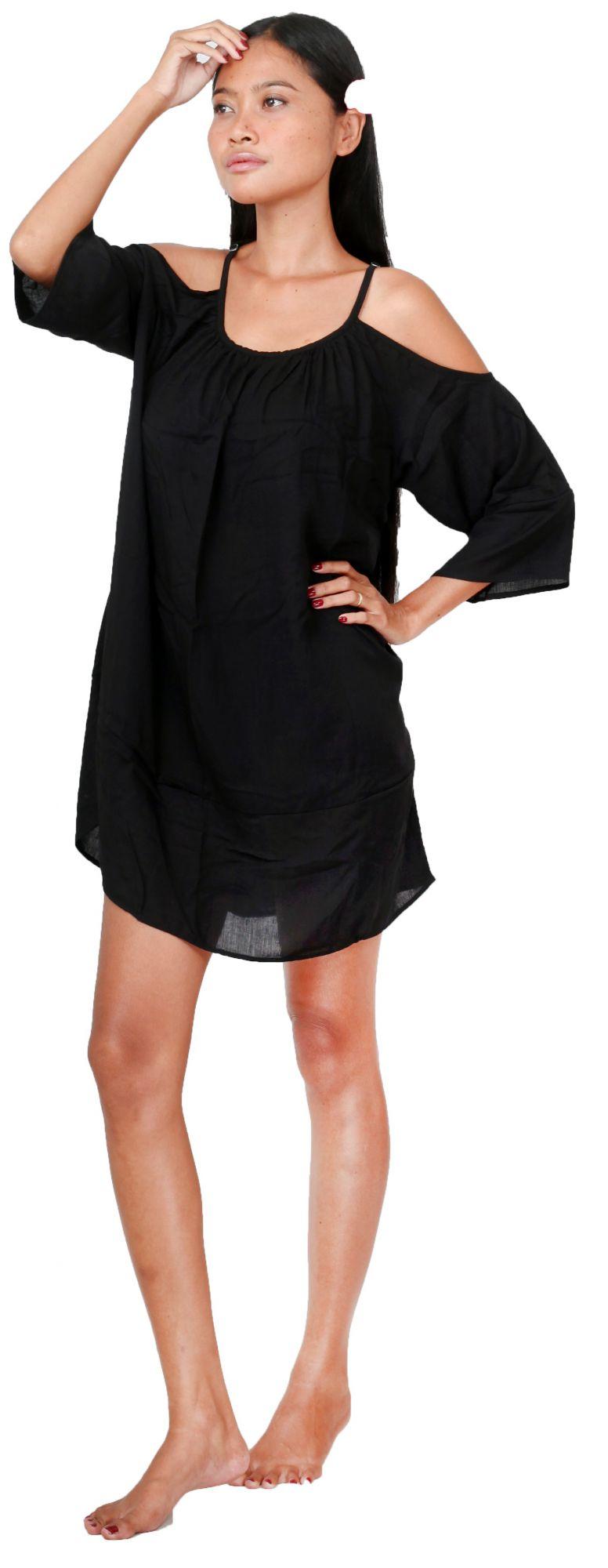 Robe de plage ample noir
