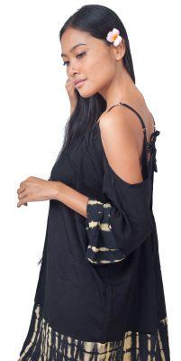 Robe de plage ample tie dye noir