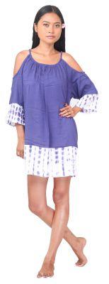 Robe de plage ample tie dye violet