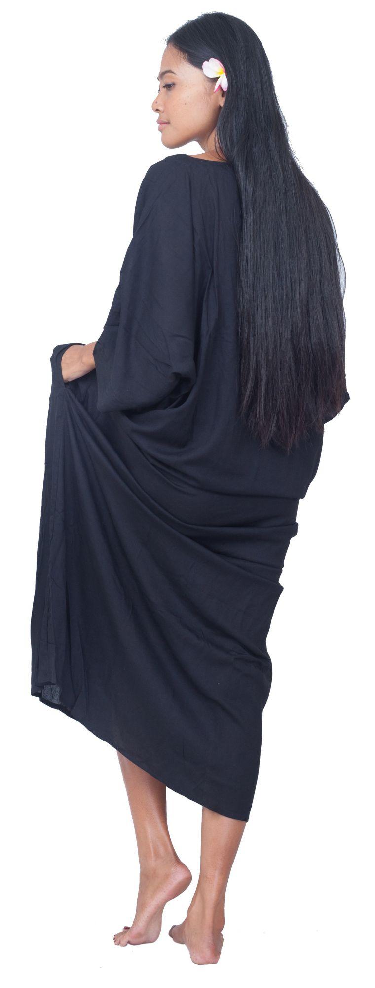Robe de plage bohème noir