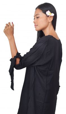 Robe de plage courte noir