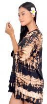 Robe de plage courte tie dye noir
