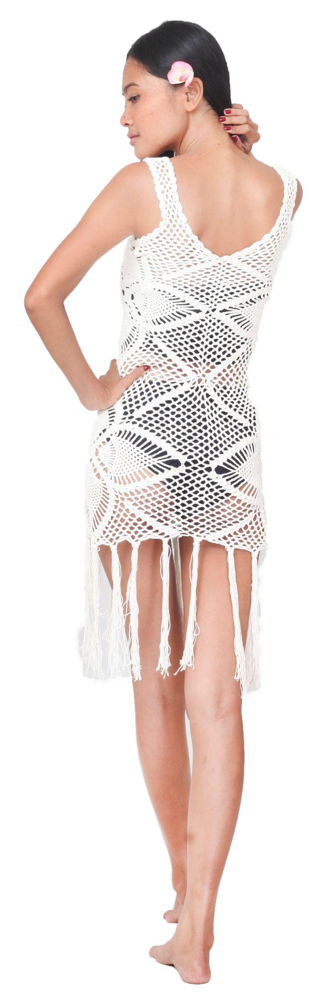 Robe de plage crochet blanche