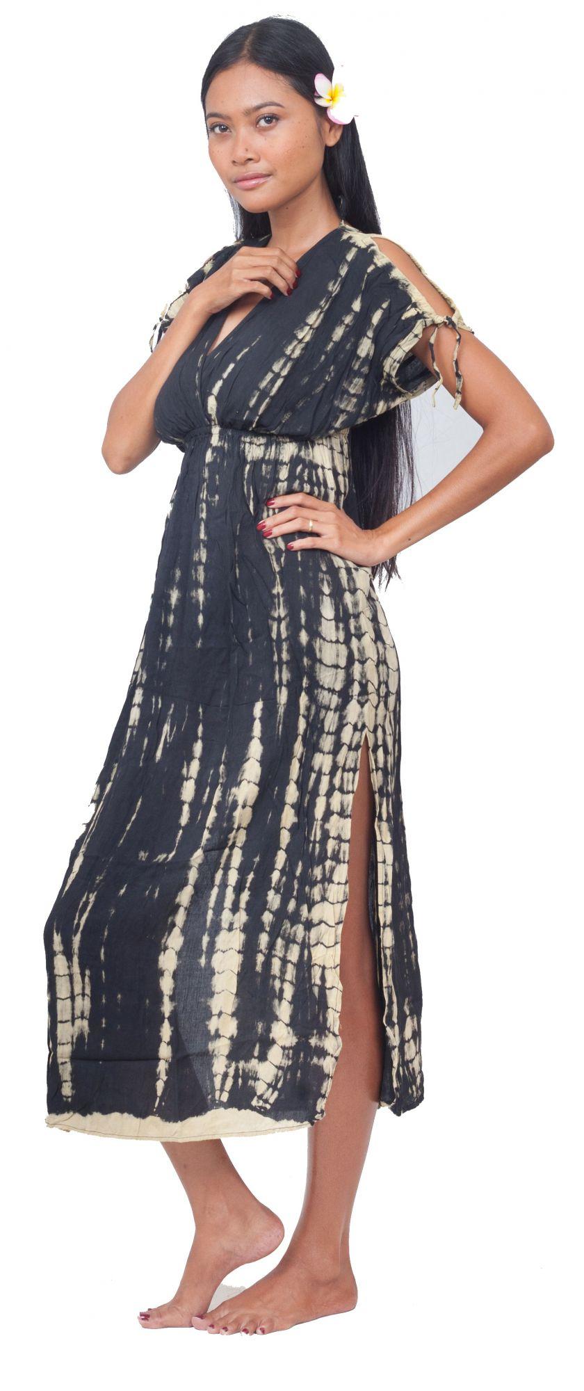Robe de plage longue tie dye noir