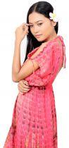 Robe de plage longue tie dye rose