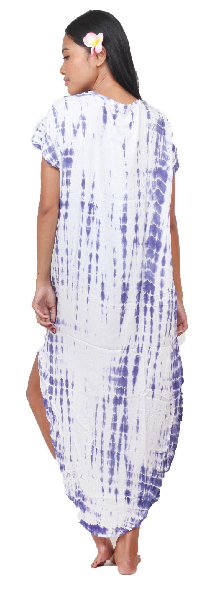 Robe de plage Lucia tie dye violet