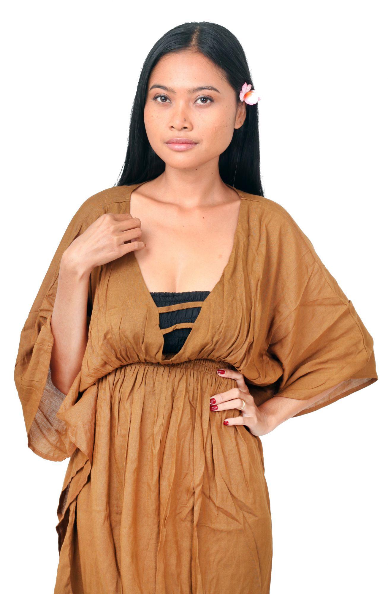 Robe de plage Margaretta beige