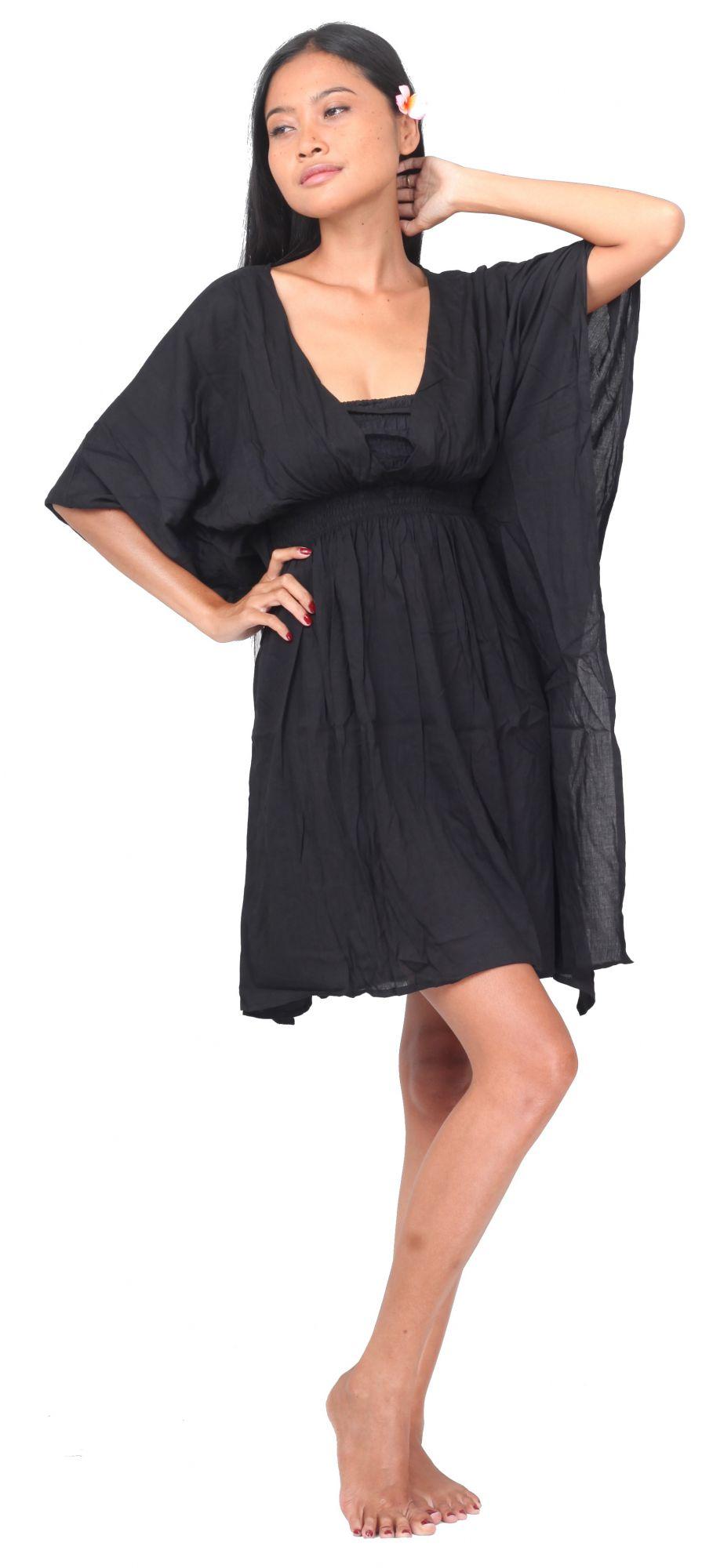 Robe de plage Margaretta noir