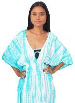 Robe de plage Margaretta turquoise