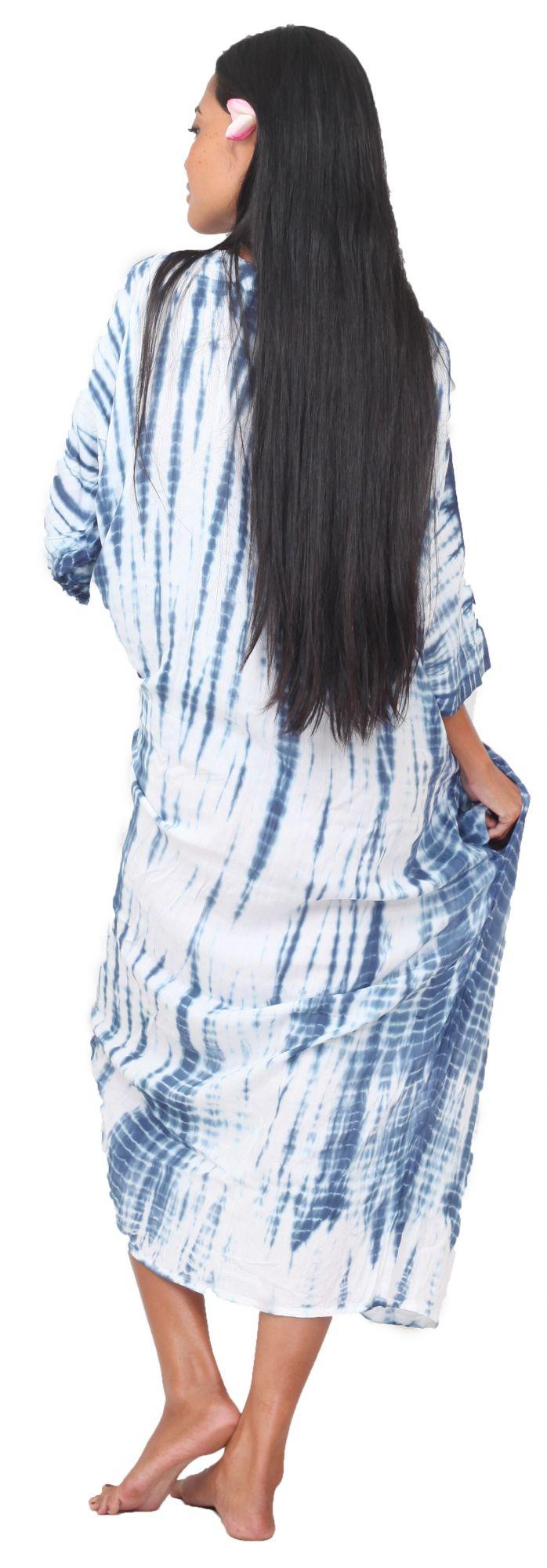 Robe de plage Tie dye bohème bleu