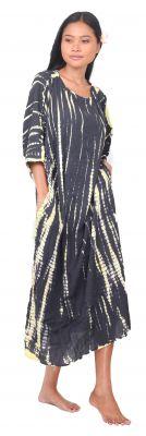 Robe de plage Tie dye bohème noir