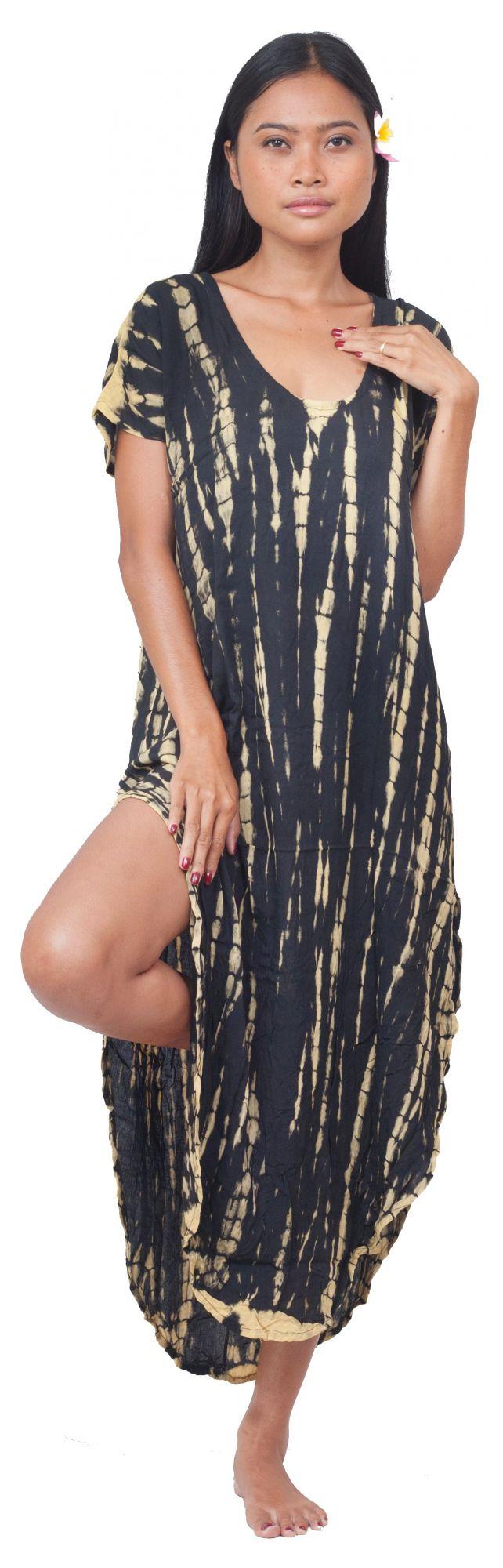 Robe de plage tie dye Lucia noir