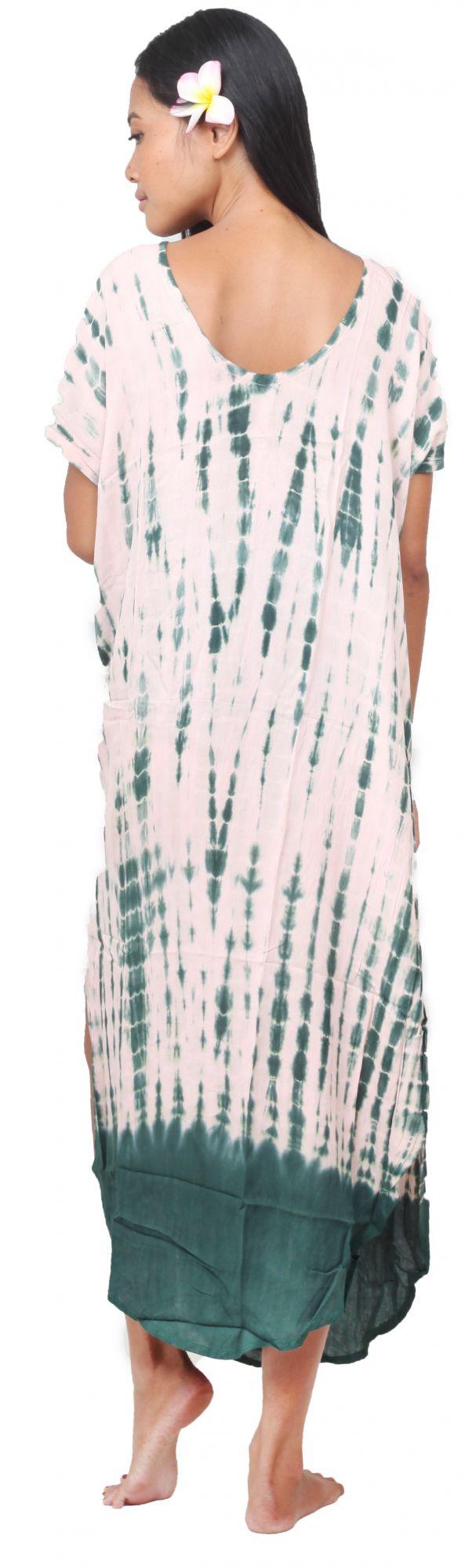 Robe de plage tie dye Lucia vert