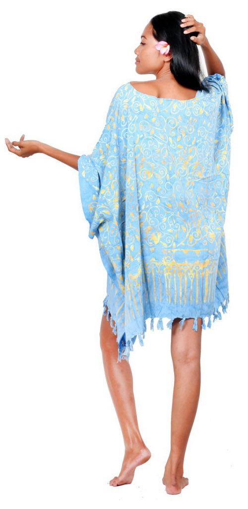 Robe paréo batik Sofia bleu