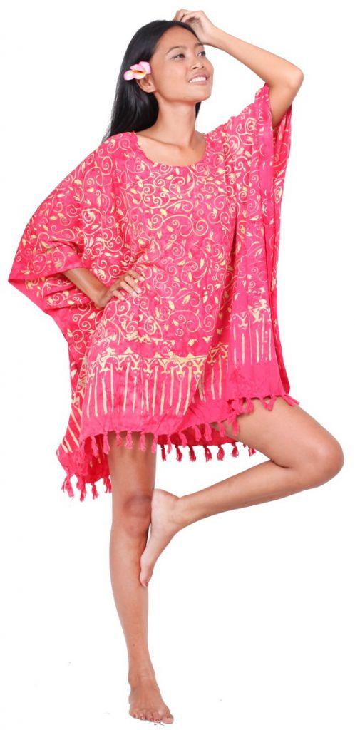 Robe paréo batik Sofia fuschia