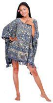 Robe paréo batik Sofia gris