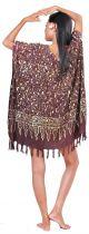 Robe paréo batik Sofia marron