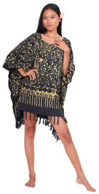 Robe paréo batik Sofia noir