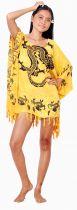 Robe paréo dragon jaune