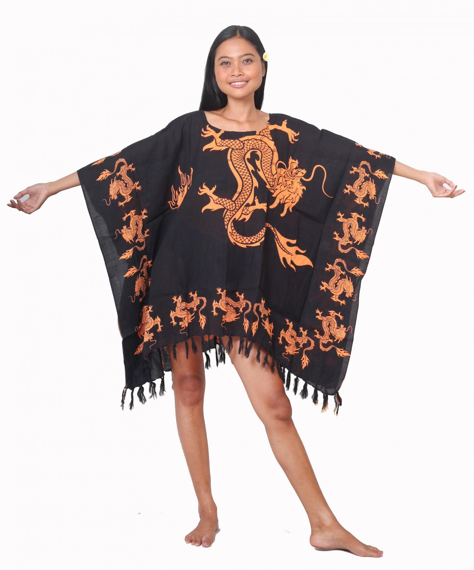 Robe paréo dragon noir