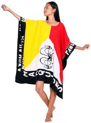 Robe paréo drapeau Marquises