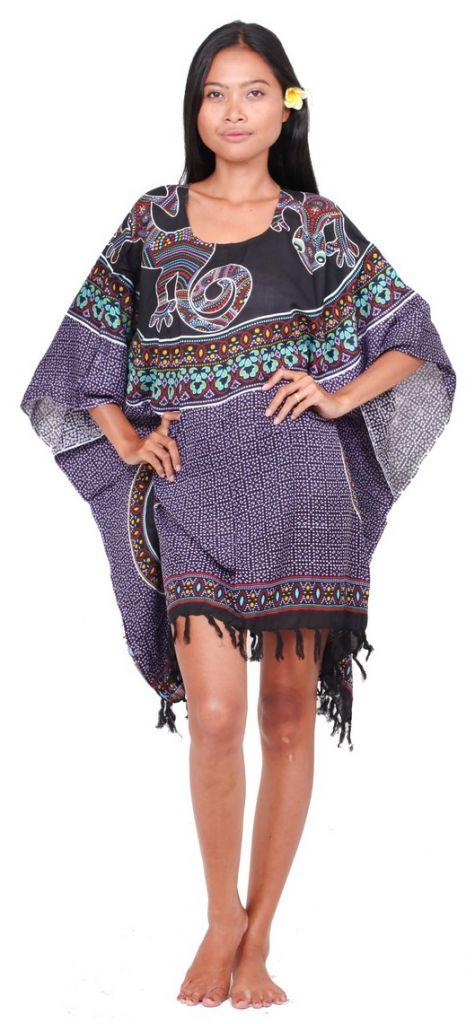 Robe paréo margouillat violet