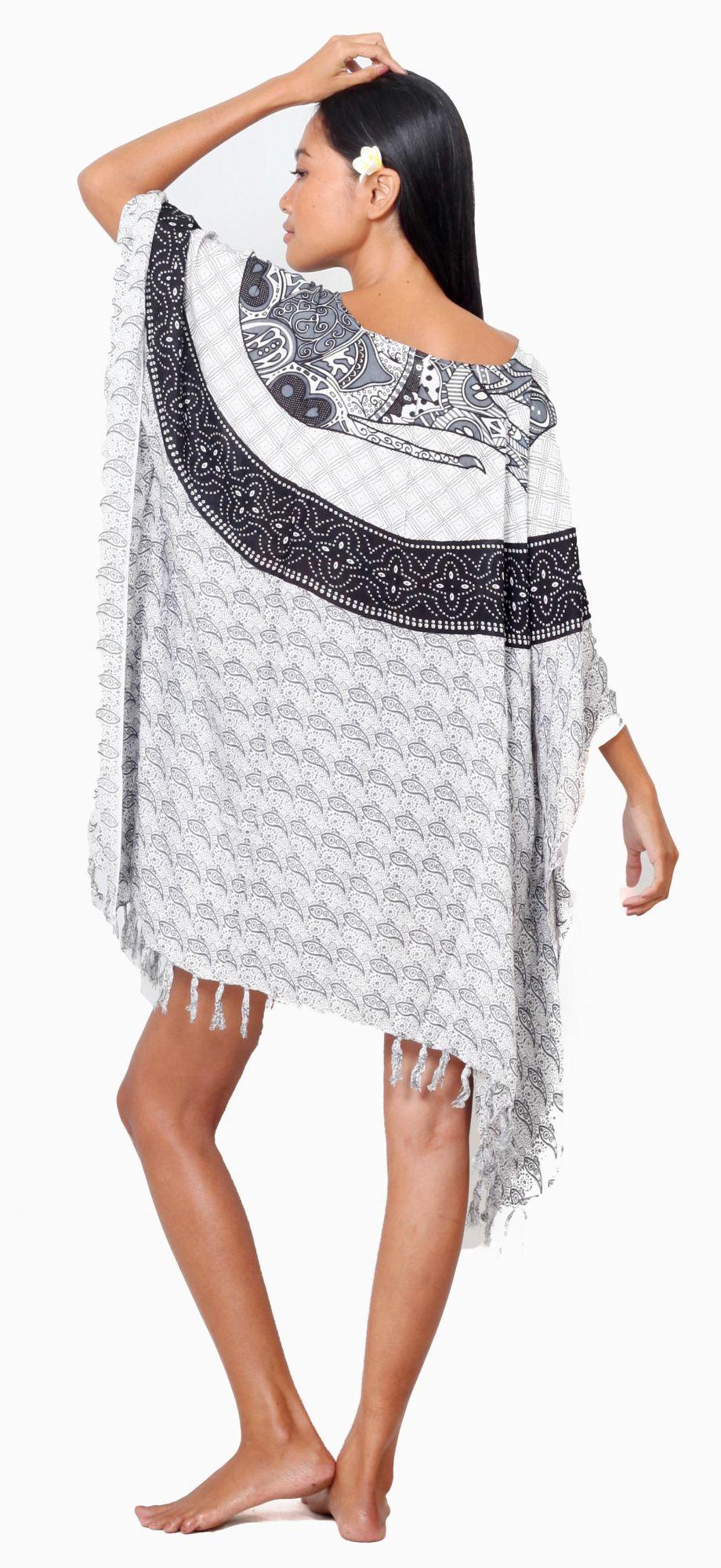 Robe Paréo patchwork élephant noir