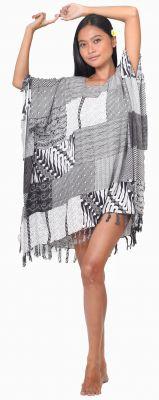 Robe Paréo patchwork noir