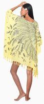Robe paréo plumes jaune