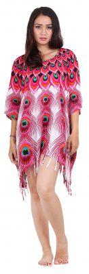 Robe paréo souple acidulé rose