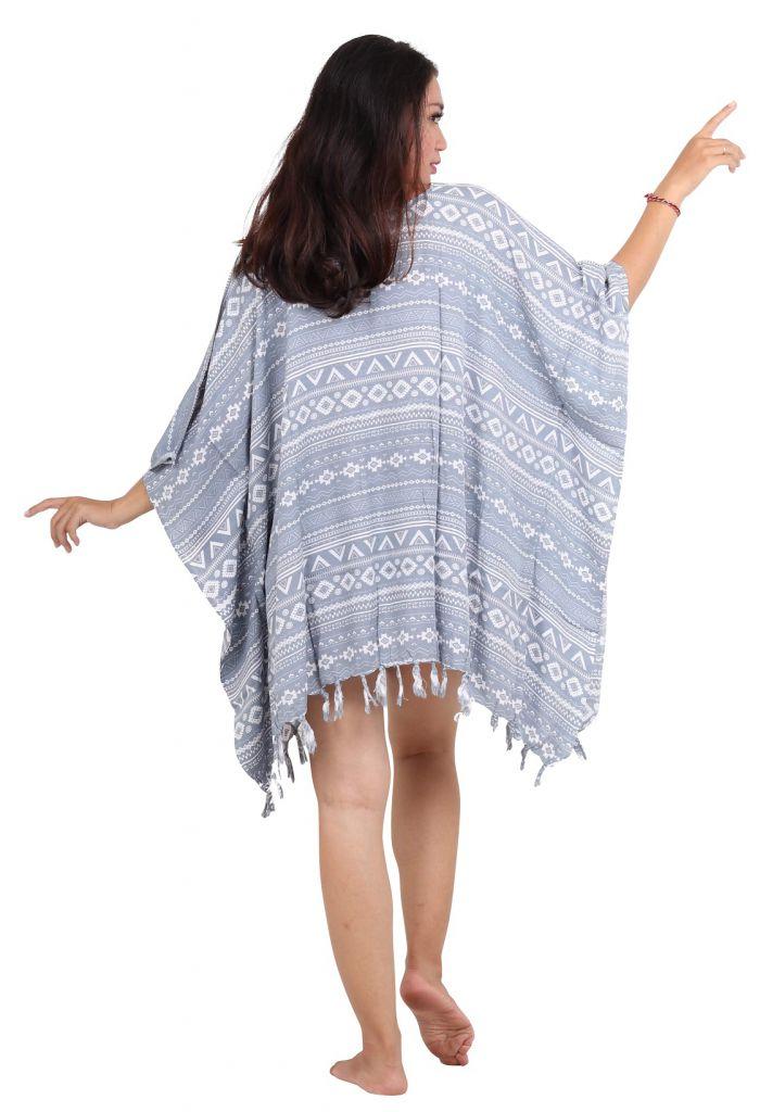 Robe paréo souple design gris