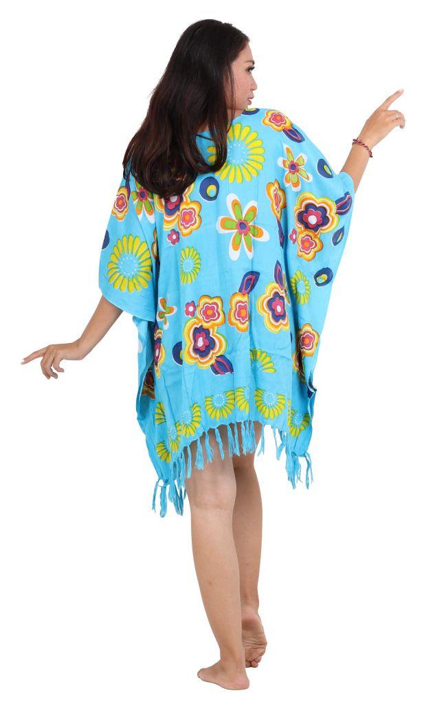Robe paréo souple Love bleu