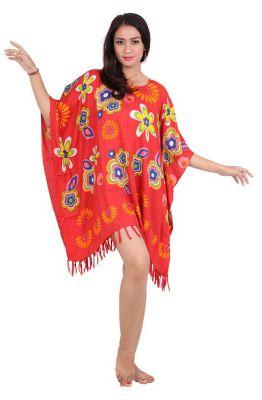 Robe paréo souple Love rouge