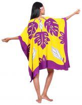 Robe paréo Tifaifai jaune et violet