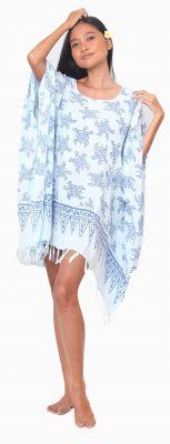 Robe paréos de plage tortue bleu