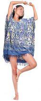 Robe paréos Kumasi bleu