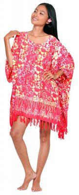 Robe paréos Kumasi rouge