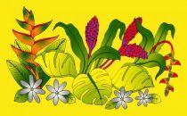 Robe paréos Opuhi de Tahiti jaune