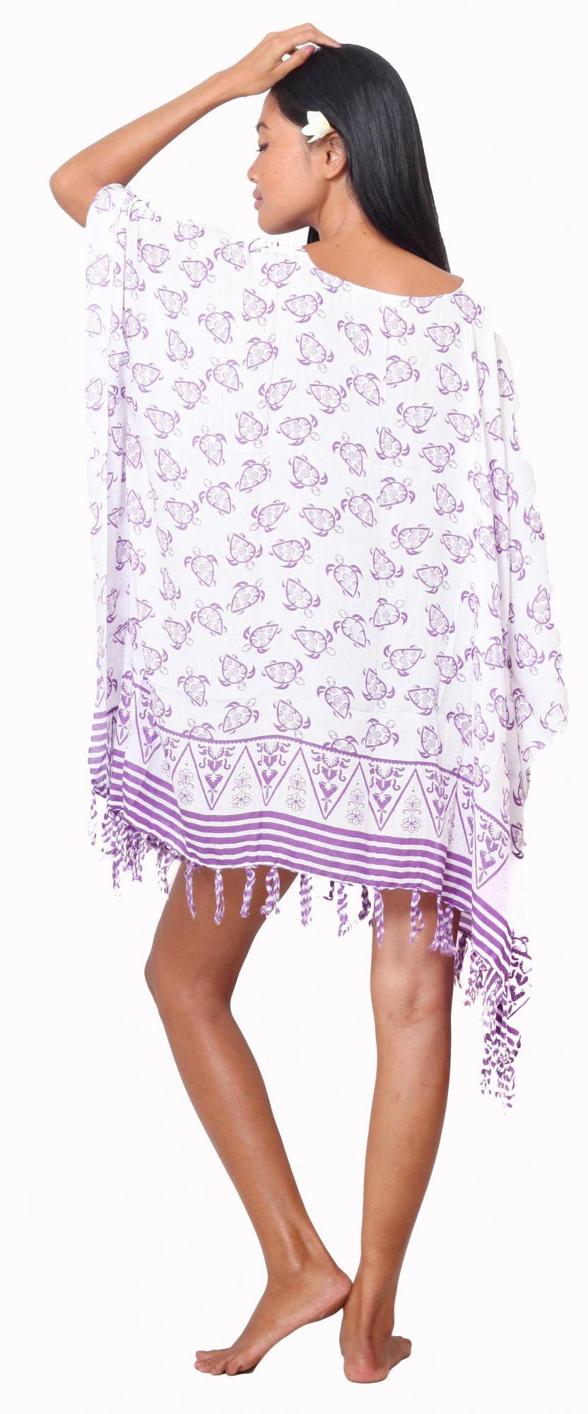Robe paréos petite tortue violet
