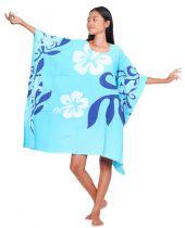 Robe paréos Printemps Bleu turquoise